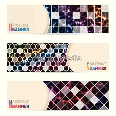 cool conjunto de banners con fondo