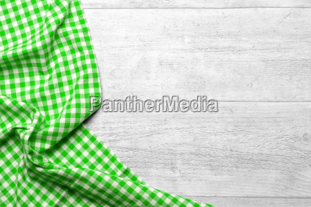 checkered fabric green