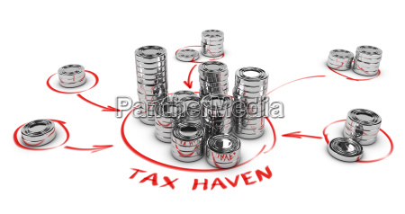 tax evasion concept