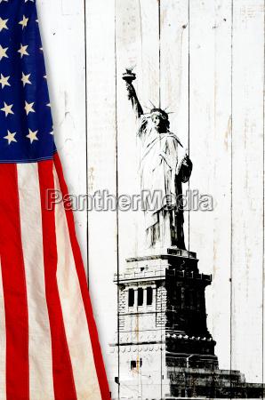 bandera de los estados unidos de