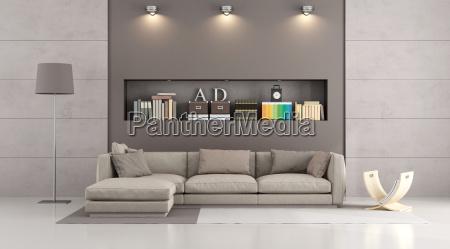 sofa moderno en un salon contemporaneo