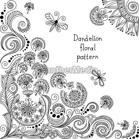 blanco y negro estampado de flores