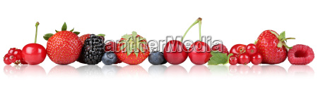 bayas de frutas fresas frambuesas cerezas