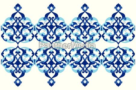 disenyado con tonos de azul otomano