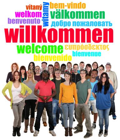 grupo de personas multiculturales jovenes dicen