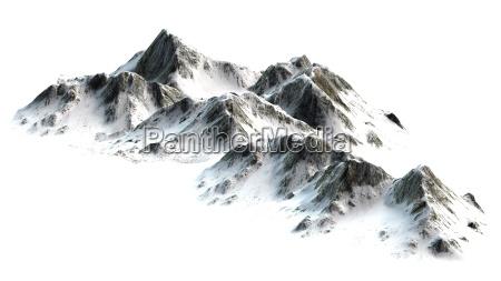 montanyas nevadas picos aislados