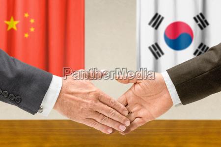 representatives of china and south korea