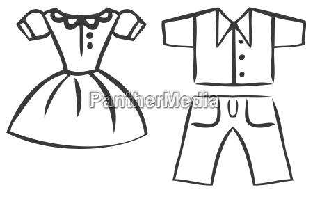 vector conjunto de ropa de dibujos