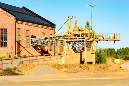 estacion detalle piedra industria industrial polvo