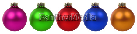christmas colorful balls christmas decoration in