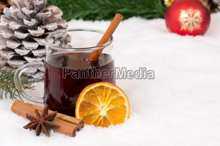 glhwein en navidad en invierno beber