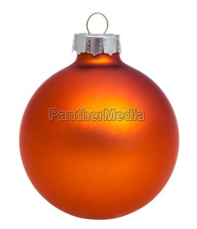xmas orange ball isolated on white