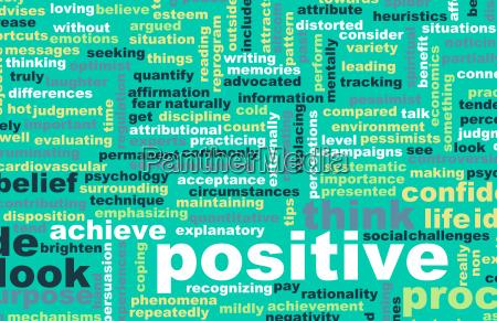 piense o mantengase positivo