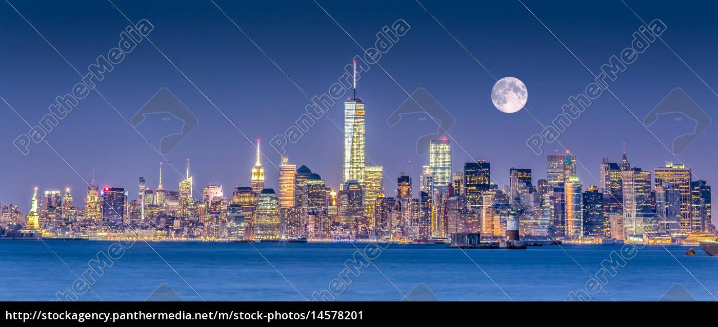 nueva, york, city, manhattan, skyline - 14578201