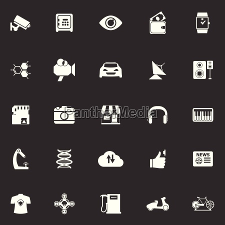 hitechnology icons on gray background