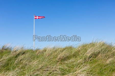 bandera, de, dinamarca, en, las, dunas - 14614885