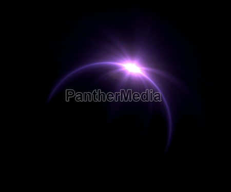 eclipse solar flare anillo purpura