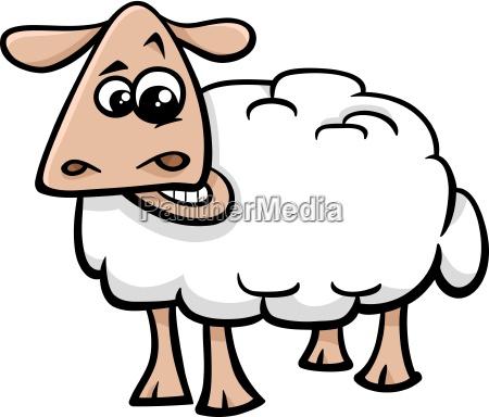 ovejas de dibujos animados de animales