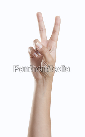 mujer senyal mostrar mano dedo femenino