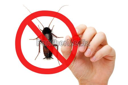 la prohibicion sign cucaracha