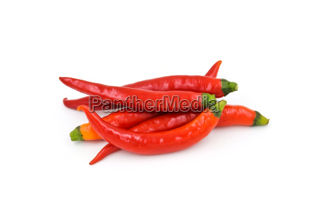 pimienta de chile roja aislada sobre