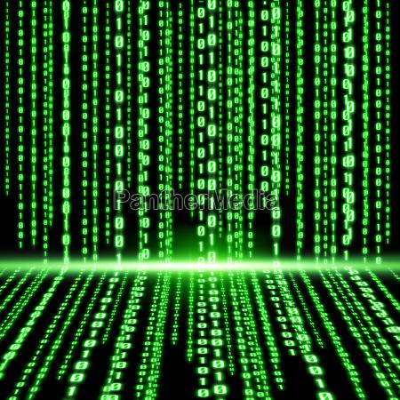 codigo binario verde