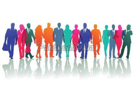 colored groups and people on the