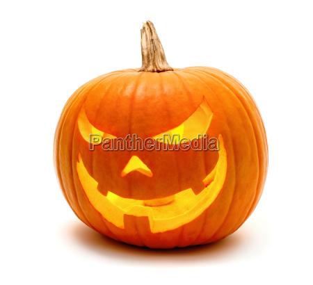 calabaza de halloween con sonrisa malvada