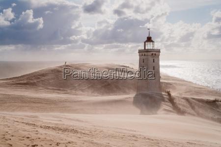 tormenta de arena en el faro