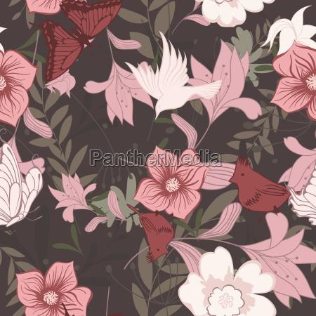 patron floral sin costuras