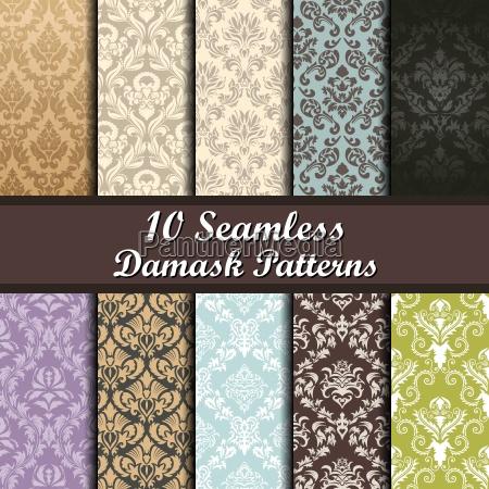 conjunto de patrones sin costura sin