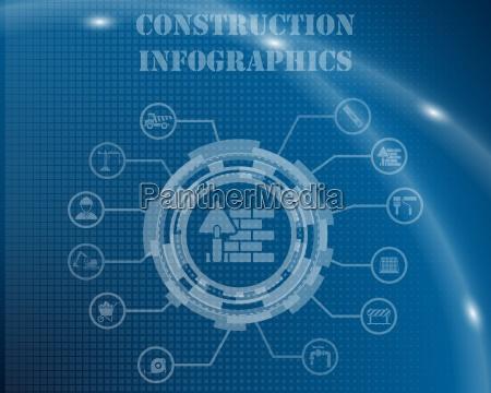 plantilla infografica de construccion