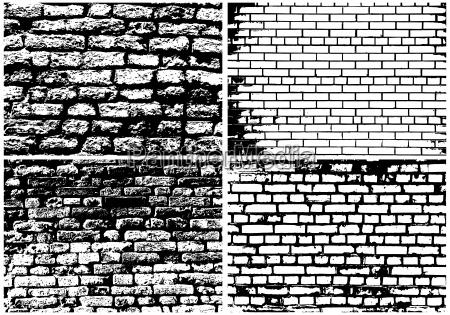 conjunto de grunge abstracta pared de