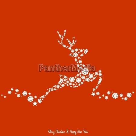 fondo navidenyo con renos decorados estilo