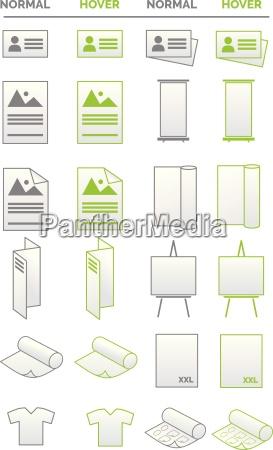 coleccion de iconos medios de