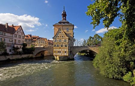 bamberg antiguo ayuntamiento con rottmeisterhaus