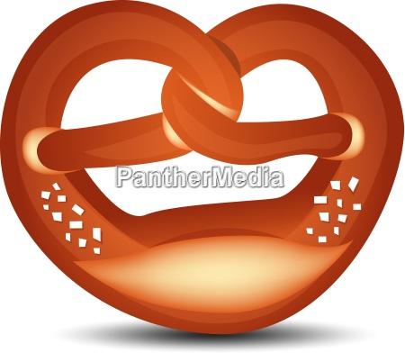 grafico vectorial de pretzel aislado