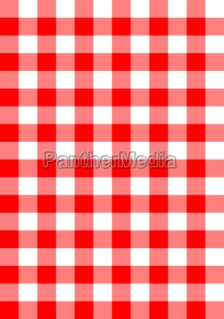 seamless red checkered fabric vector background