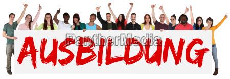 el entrenamiento de grupo multicultural joven