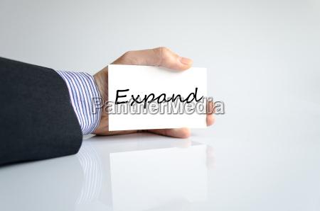 expand text concept
