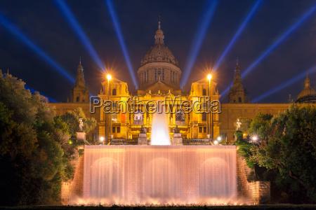 light show and fountains placa espanya