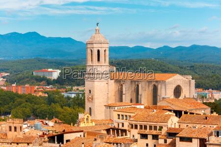 saint mary cathedral in girona catalonia