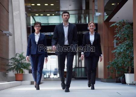 business people team walking