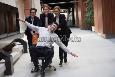 business people group have fun