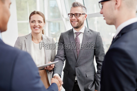 happy business partners