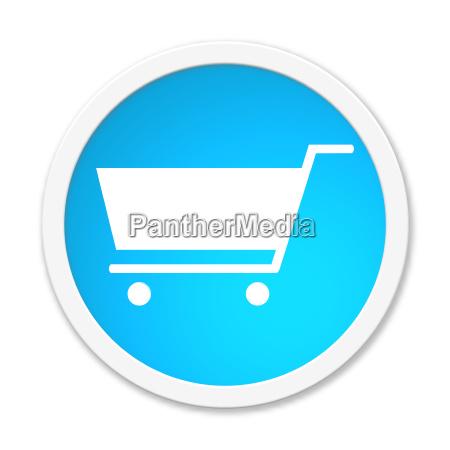 button round shopping cart icon