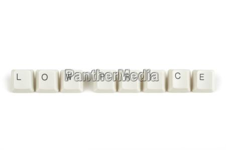 teclado negocios trabajo mano de obra
