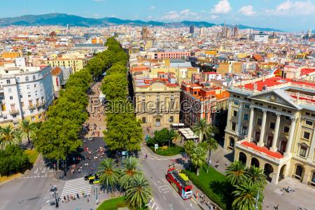 las ramblas in barcelona catalonia spain