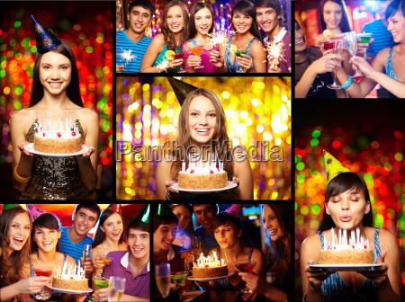 amigos en la fiesta de cumpleanyos
