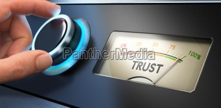 confiar concepto en el negocio